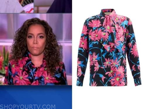sunny hostin, the view, floral shirt