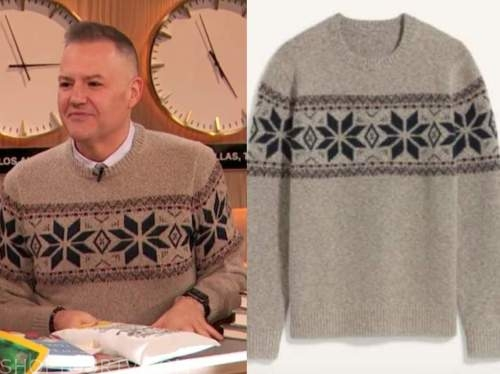 ross mathews, drew barrymore show, fair isle sweater