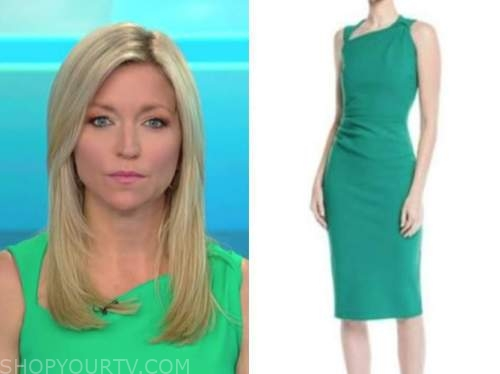 ainsley earhardt, fox and friends, green dress