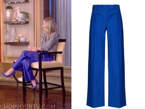 kelly ripa, blue pants, live with kelly and ryan