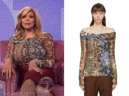 wendy williams, the wendy williams show, multicolor printed top