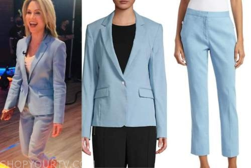 amy robach, good morning america, blue pant suit