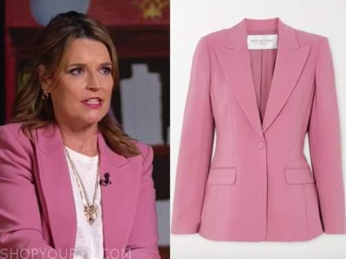 savannah guthrie, the today show, pink blazer