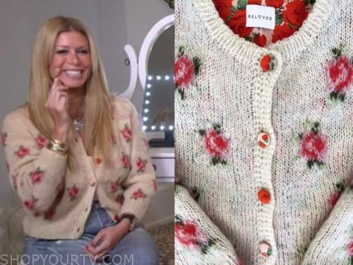 jill martin, beige floral cardigan sweater, the today show