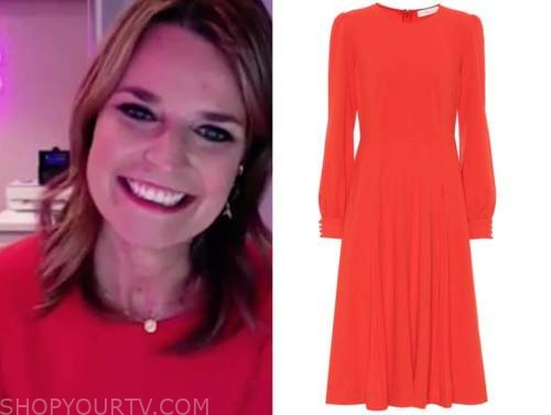 savannah guthrie, the today show, red midi dress