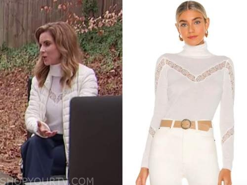 natalie morales, the today show, white lace turtleneck top
