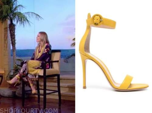 kelly ripa, yellow sandals, live with kelly and ryan