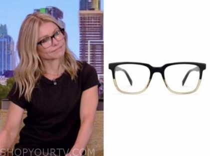 kelly ripa, live with kelly and ryan, black glasses