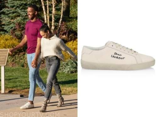 the bachelor, matt james, ivory sneakers