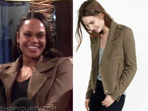 michelle young, green moto jacket, the bachelor