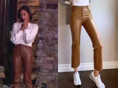 serena pitt, brown leather pants, the bachelor