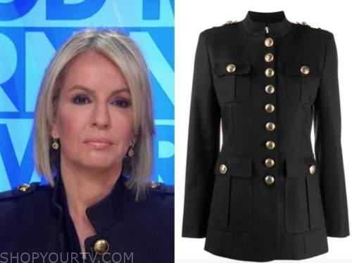 good morning america, dr. jennifer ashton, black military jacket