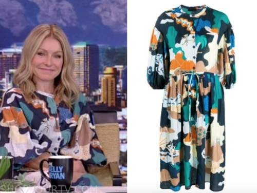 kelly ripa, live with kelly and ryan, landscape abstract dress