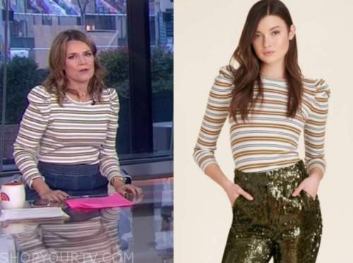 savannah guthrie, the today show, striped knit sweater top