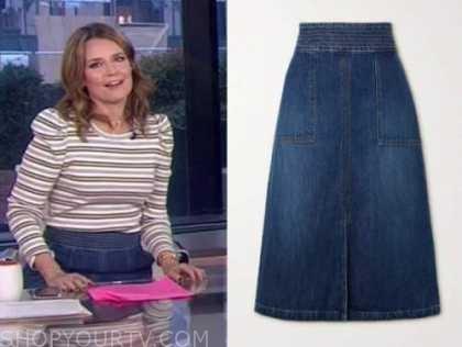 savannah guthrie, the today show, denim pencil skirt
