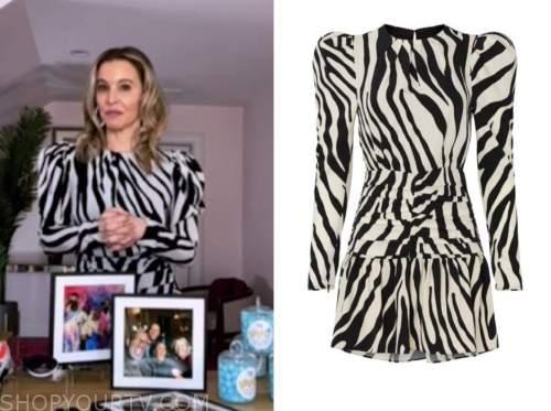 jenn falik, the today show, zebra print dress
