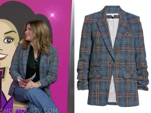 jenna bush hager, the today show, blue plaid blazer