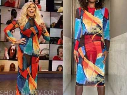wendy williams, the wendy williams show, multicolor mesh dress