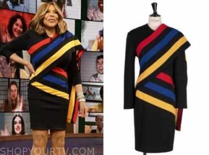 wendy williams, the wendy williams show, striped asymmetric dress
