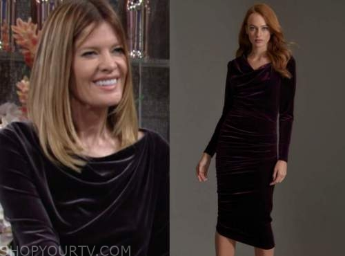 michelle stafford, phyllis newman, the young and the restless, purple velvet dress