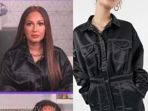 adrienne bailon, black jumpsuit, the real