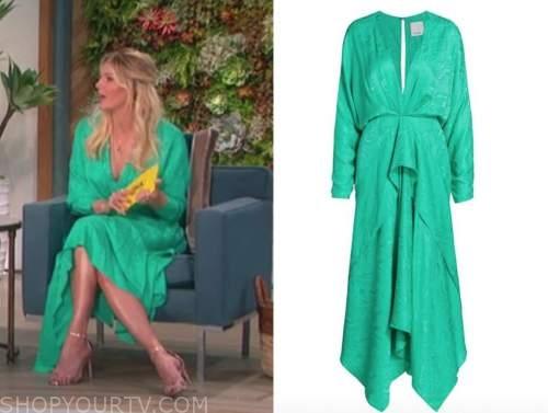 amanda kloots, green midi dress, the talk