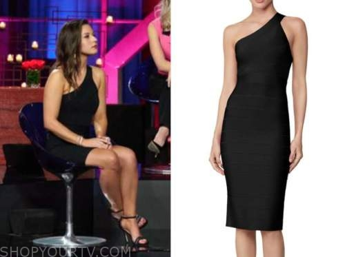 katie thurston, the bachelor, women tell all, black one-shoulder dress