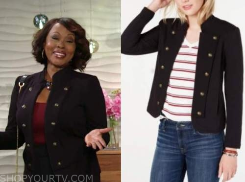 Ptosha Storey, naya benedict, military jacket, the young and the restless