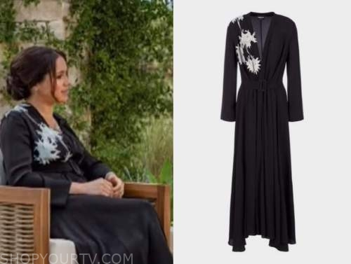 meghan markle, the today show, black and white floral dress, oprah interview