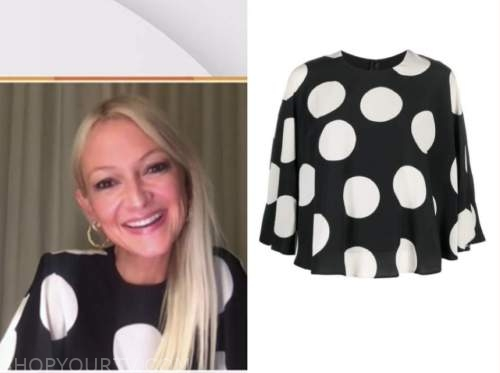 zanna roberts rassi, the today show, black and white polka dot top