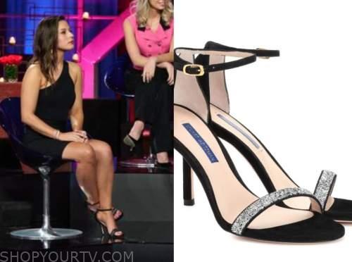 katie thurston, the bachelor, black embellished sandals