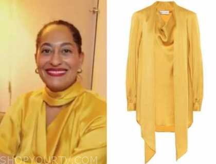 tracee ellis ross, yellow blouse, cbs this morning