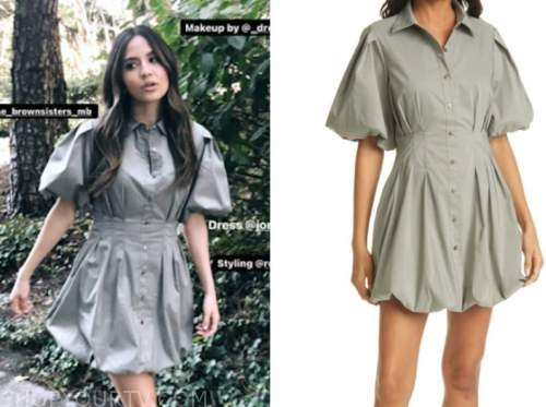 erin lim, E! news, nightly pop, khaki green shirt dress