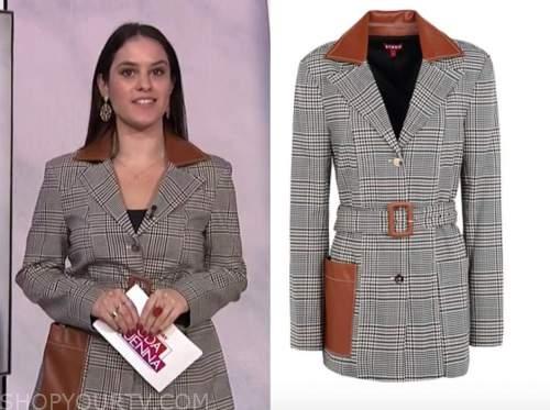 donna farizan, the today show, plaid leather blazer