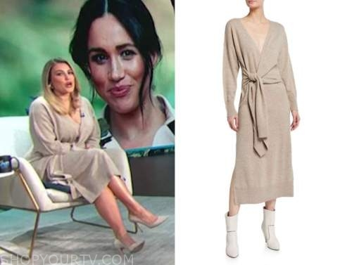 carissa culiner, beige sweater dress, E! news, daily pop