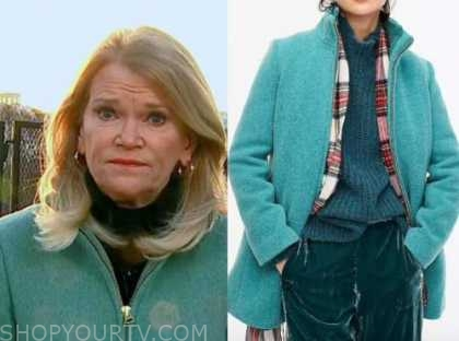 martha raddatz, green zipper coat, good morning america