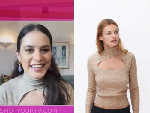 donna farizan, the today show, beige cutout turtleneck top