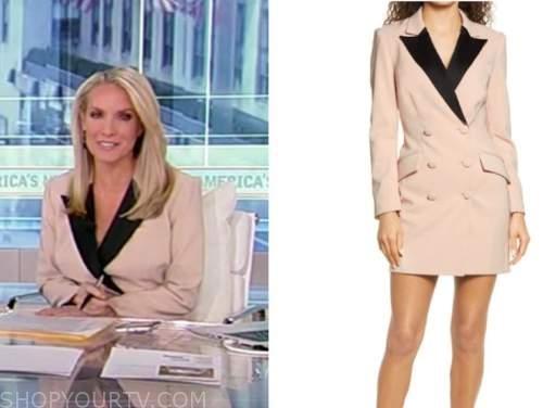 dana perino, america's newsroom, beige and black blazer dress