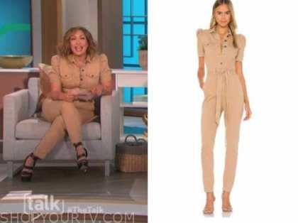carrie ann inaba, camel jumpsuit, the talk