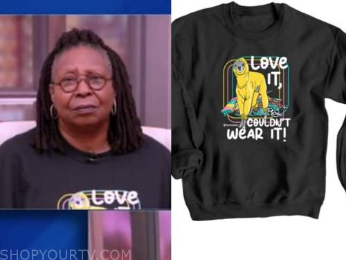 whoopi goldberg, black dog sweater, the view