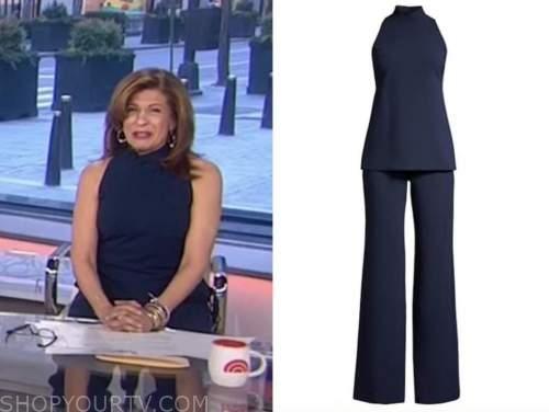 hoda kotb, the today show, navy blue mock neck jumpsuit
