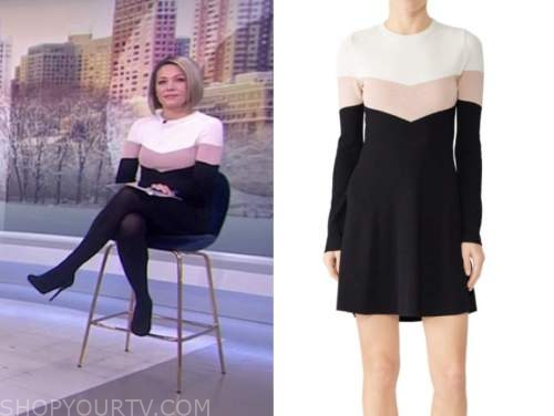 dylan dreyer, the today show, colorblock dress