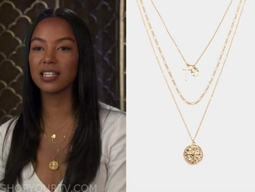 bri springs, the bachelor, gold layered necklace