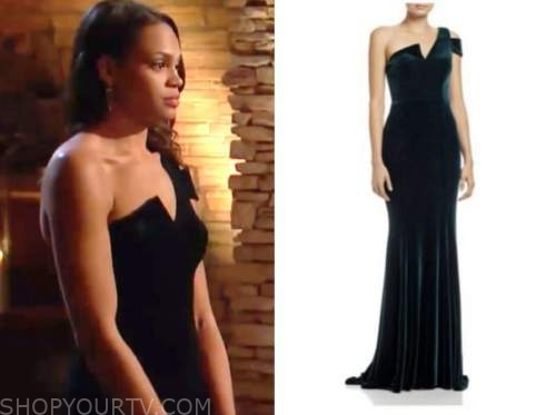 michelle young, the bachelor, velvet gown