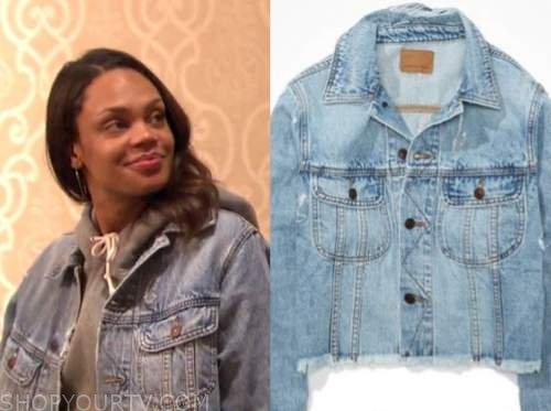 michelle young, distressed denim jacket, the bachelor