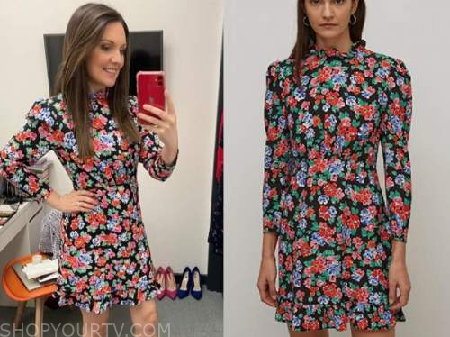 laura tobin, good morning britain, floral mini dress
