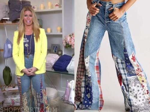jill martin, the today show, patchwork flare jeans