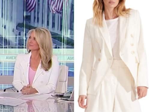 dana perino, america's newsroom, ivory double breasted blazer