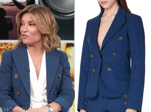 kit hoover, access daily, access hollywood, blue double breasted blazer