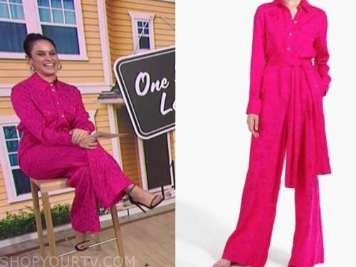 donna farizan, the today show, hot pink jacquard jumpsuit